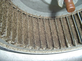 Dirty Seattle Gas Furnace Blower Wheel
